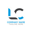 initial lc letter business logo design template vector image vector image