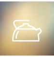 Kettle thin line icon vector image
