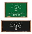 Lamp on blackboardGenerate ideas and imagination vector image vector image