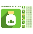 Male Medicine Icon and Medical Longshadow Icon Set vector image