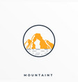 mountain with sea view and yellow color template vector image vector image