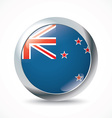 New Zealand flag button vector image vector image