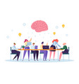 office team character brainstorm work conference vector image