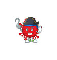one hand pirate dangerous coronaviruses with a hat vector image vector image