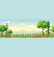 panorama summer landscape vector image vector image