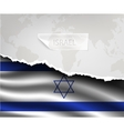 paper with hole and shadows ISRAEL flag vector image vector image