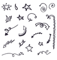 Pencil sketch decorative elements vector image vector image