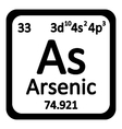 Periodic table element arsenic icon vector image vector image