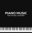 piano concert poster design live music concert vector image vector image