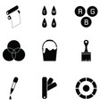 printing icon set vector image