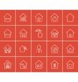 Real estate sketch icon set vector image vector image
