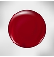 realistic blood drop red vector image vector image