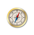 realistic compass isolated on white background vector image vector image