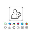 remove user line icon profile avatar sign vector image vector image