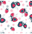 Saemless pattern with strawberries vector image vector image