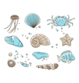 sea collection vector image