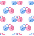 seamless pattern padlock couple with heart shape vector image vector image