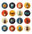 set flat design halloween icons vector image vector image