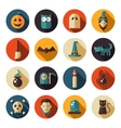 Set of flat design Halloween icons vector image vector image