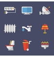 Set Of Icons Electricity Heating Water And Other vector image