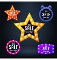 Set of sale banner and emblem vector image vector image