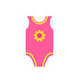 short sleeves pink jumpsuit romper yellow flower vector image