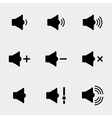Sound and speaker icons vector image vector image
