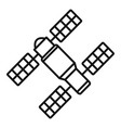 space station solar panel icon outline style vector image vector image