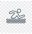 swimmer concept linear icon isolated on vector image