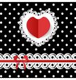 template of the greeting card vector image vector image