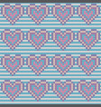 valentines day love heart knitted seamless pattern vector image