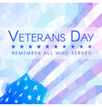 veterans day banner with usa flag vector image