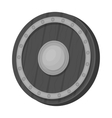 Viking shield icon in monochrome style isolated on vector image vector image