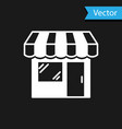 white shopping building or market store icon vector image