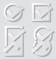 white tick icons vector image vector image