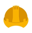 yellow construction safety helmet icon vector image vector image