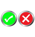 yes and no button symbol the mark is correct and vector image vector image