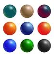 Color balls set vector image