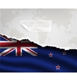 paper with hole and shadows NEW ZEALAND flag vector image