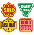 set of grunge sale stamp vector image
