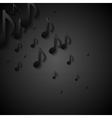Abstract black music background vector image