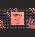 abstract autumn sale banner vector image