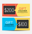 abstract gift voucher template vector image