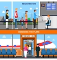 Airport Banners Set vector image vector image