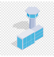 airport building isometric icon vector image vector image