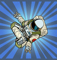 astronaut the yoga lotus position top view vector image vector image