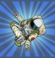 astronaut yoga lotus position top view vector image