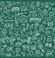 Back to school seamless pattern for your design