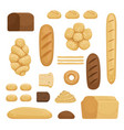 bakery products of different vector image