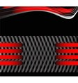 black and red background message board for vector image vector image